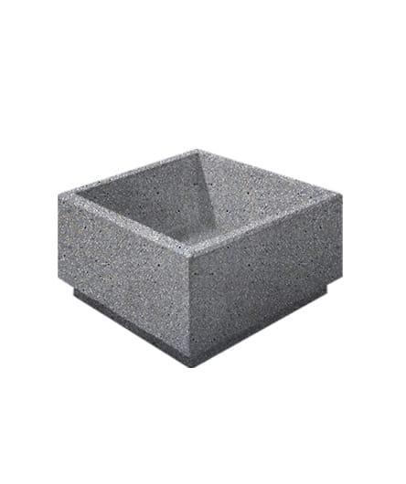 Цветочница бетонная ВЫБОР ЦВ-1 800*800*400 Серый Мозаичный бетон