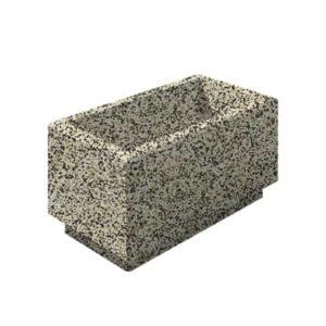 Цветочница бетонная ВЫБОР ЦВ-2 400*800*400 Бело-черный Мытый бетон
