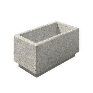 Цветочница бетонная ВЫБОР ЦВ-2 400*800*400 Белый Гранит