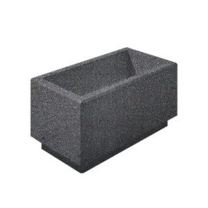 Цветочница бетонная ВЫБОР ЦВ-2 400*800*400 Черный Мозаичный бетон