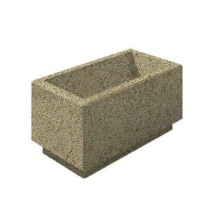 Цветочница бетонная ВЫБОР ЦВ-2 400*800*400 Медовый Мытый бетон