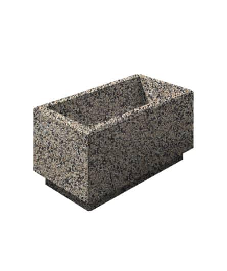 Цветочница бетонная ВЫБОР ЦВ-2 400*800*400 Серо-красный Мытый бетон