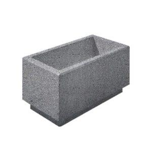 Цветочница бетонная ВЫБОР ЦВ-2 400*800*400 Серый Мозаичный бетон