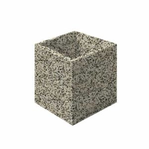 Цветочница бетонная ВЫБОР ЦВ-3 600*600*600 Бело-черный Мытый бетон