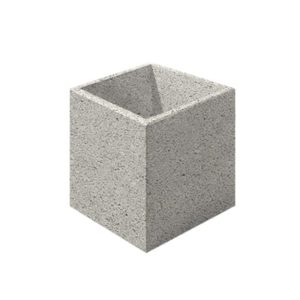 Цветочница бетонная ВЫБОР ЦВ-3 600*600*600 Белый Гранит
