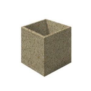 Цветочница бетонная ВЫБОР ЦВ-3 600*600*600 Медовый Мытый бетон
