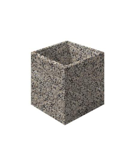 Цветочница бетонная ВЫБОР ЦВ-3 600*600*600 Серо-красный Мытый бетон