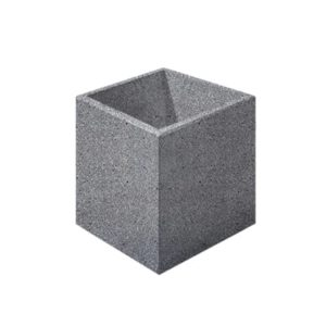 Цветочница бетонная ВЫБОР ЦВ-3 600*600*600 Серый Мозаичный бетон