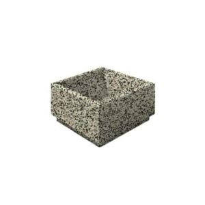 Цветочница бетонная ВЫБОР ЦВ-4 400*400*300 Бело-черный Мытый бетон