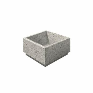 Цветочница бетонная ВЫБОР ЦВ-4 400*400*300 Белый Гранит