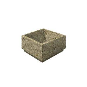 Цветочница бетонная ВЫБОР ЦВ-4 400*400*300 Медовый Мытый бетон