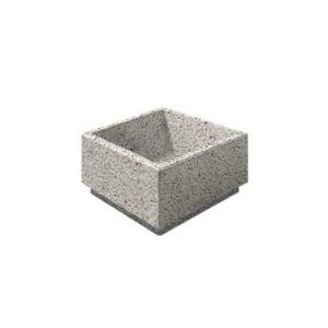 Цветочница бетонная ВЫБОР ЦВ-4 400*400*300 С пигментом Гранит