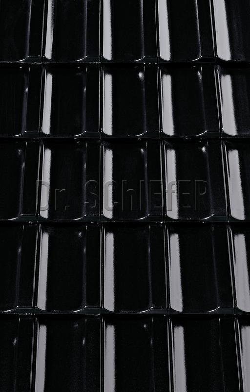 Керамическая рядовая черепица Creaton Optima Finesse черный