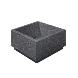 Цветочница бетонная ВЫБОР ЦВ-1 800*800*400 Черный Мозаичный бетон