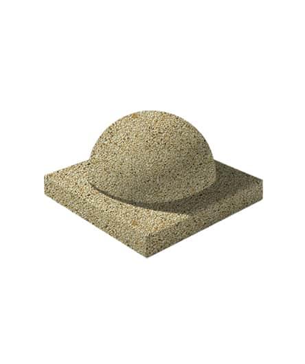 Ландшафтный элемент ВЫБОР ПОЛУШАР d=600 Медовый Мытый бетон