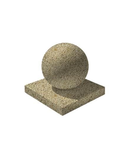 Ландшафтный элемент ВЫБОР ШАР-1 d=600 Медовый Мытый бетон
