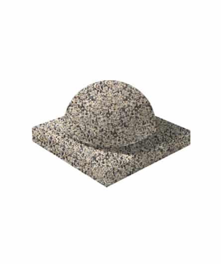 Ландшафтный элемент ВЫБОР ПОЛУШАР d=600 Серо-красный Мытый бетон