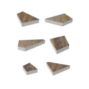 Тротуарные плиты ВЫБОР Искусственный камень ОРИГАМИ Б.4.Фсм.8 Доломит- комплект из 6 плит