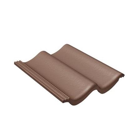 Цементно-песчаная рядовая черепица BRAAS Доппель-С коричневый