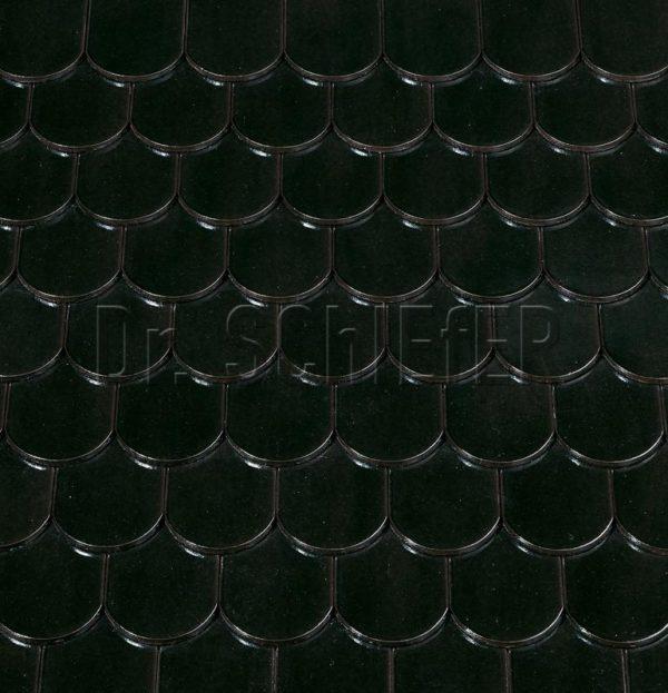 Керамическая рядовая черепица Creaton Biber-classic Finesse черный