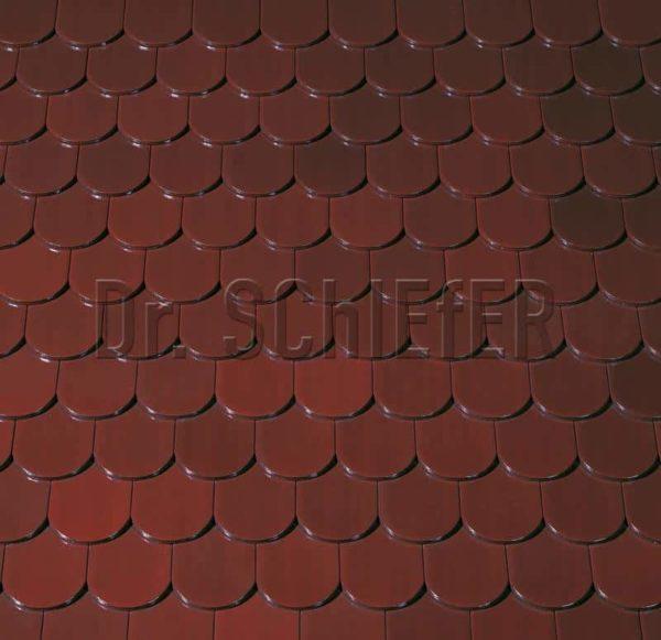 Керамическая рядовая черепица Creaton Biber-classic Finesse коричневый