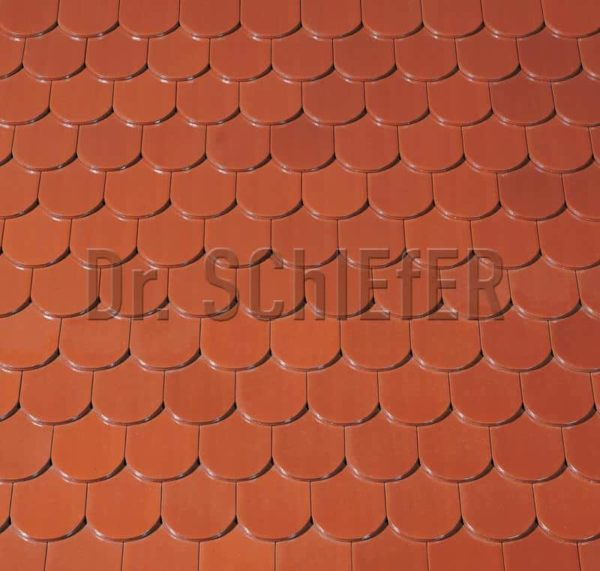 Керамическая рядовая черепица Creaton Biber-classic Finesse красный