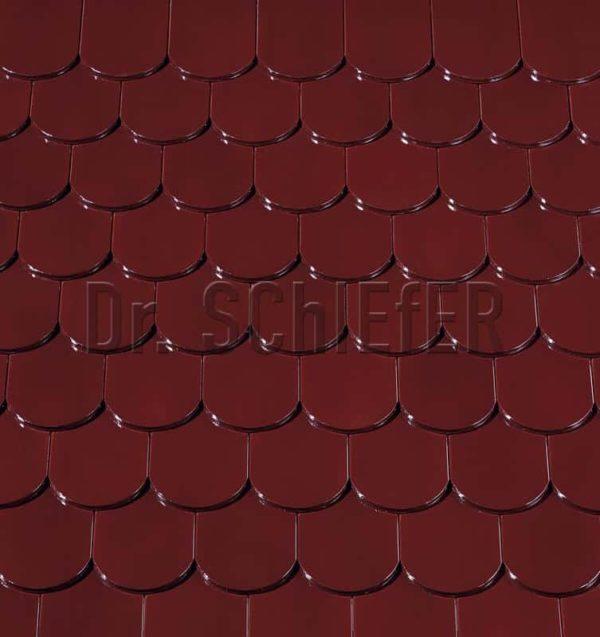 Керамическая рядовая черепица Creaton Biber-classic Finesse винно-красный