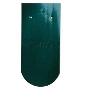 Керамическая рядовая черепица Creaton Biber-classic Finesse зеленый