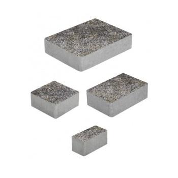 Тротуарные плиты ВЫБОР Искусственный камень МЮНХЕН Б.2.Фсм.6 Габбро- комплект из 4 плит