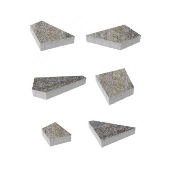 Тротуарные плиты ВЫБОР Искусственный камень ОРИГАМИ Б.4.Фсм.8 Габбро- комплект из 6 плит