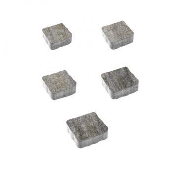 Тротуарные плиты ВЫБОР Искусственный камень АНТИК Б.3.А.6 Габбро- комплект из 5 плит