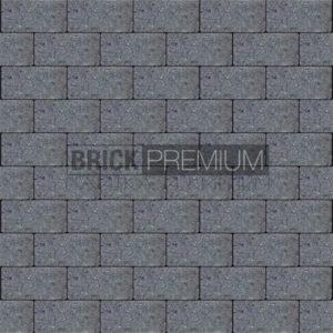 Тротуарная плитка Brick Premium Платцстоун Графит гладкая 45 мм