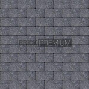 Тротуарная плитка Brick Premium Платцстоун Графит гранит 65 мм