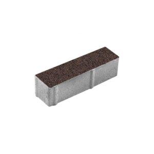 Тротуарная плитка ВЫБОР Гранит Паркет 360*80*80 мм Коричневый