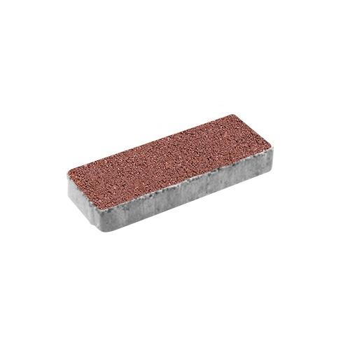 Тротуарная плитка ВЫБОР Гранит Паркет 600*200*80 мм Красный с черным