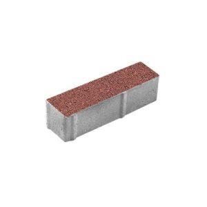 Тротуарная плитка ВЫБОР Гранит Паркет 360*80*80 мм Красный с черным