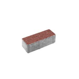 Тротуарная плитка ВЫБОР Гранит Паркет 180*60*60 мм Красный с черным