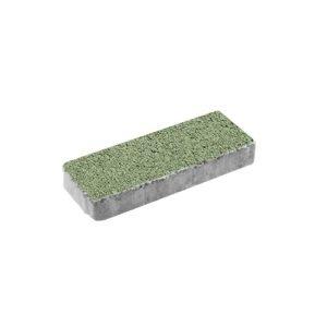 Тротуарная плитка ВЫБОР Гранит Паркет 600*200*80 мм Зелёный
