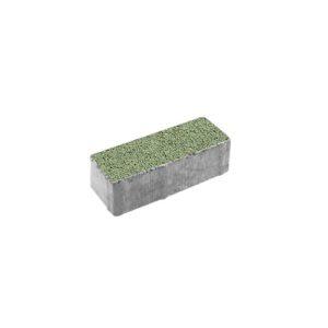 Тротуарная плитка ВЫБОР Гранит Паркет 180*60*60 мм Зелёный