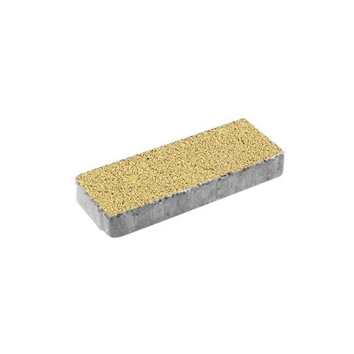 Тротуарная плитка ВЫБОР Гранит Паркет 600*200*80 мм Желтый