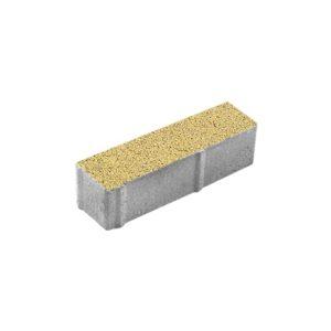 Тротуарная плитка ВЫБОР Гранит Паркет 360*80*80 мм Желтый