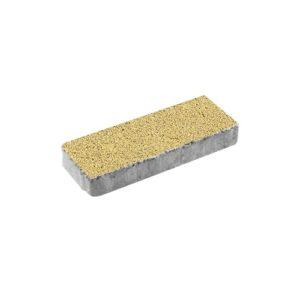 Тротуарная плитка ВЫБОР Гранит Паркет 600*200*80 мм Желтый с черным
