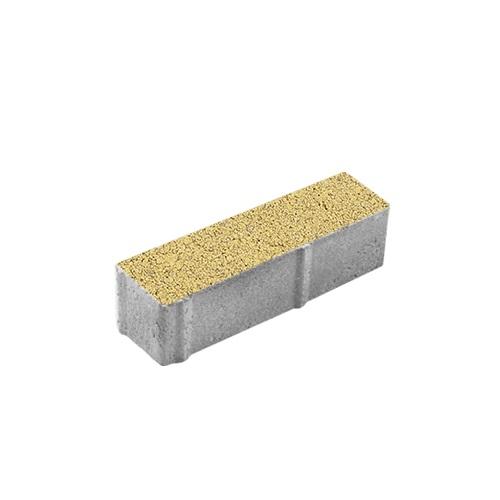 Тротуарная плитка ВЫБОР Гранит Паркет 360*80*80 мм Желтый с черным