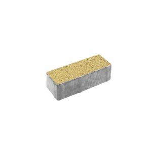 Тротуарная плитка ВЫБОР Гранит Паркет 180*60*60 мм Желтый с черным