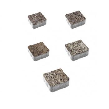 Тротуарные плиты ВЫБОР Листопад гладкий АНТИК Б.3.А.6 Хаски- комплект из 5 плит
