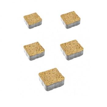 Тротуарные плиты ВЫБОР Листопад гладкий АНТИК А.3.А.4 Каир - комплект из 5 плит