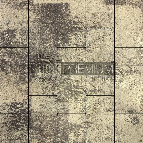 Тротуарная плитка Brick Premium Калипсо Алькантара гранит 65 мм