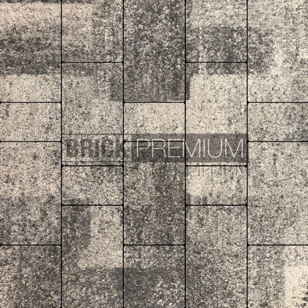 Тротуарная плитка Brick Premium Калипсо Базальт гранит 65 мм