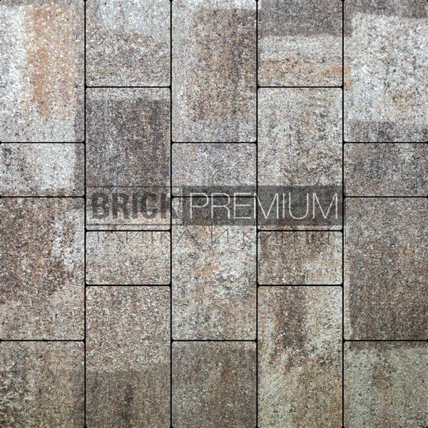 Тротуарная плитка Brick Premium Калипсо Либерика гранит 65 мм