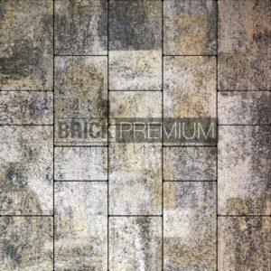 Тротуарная плитка Brick Premium Калипсо Оникс гранит 65 мм
